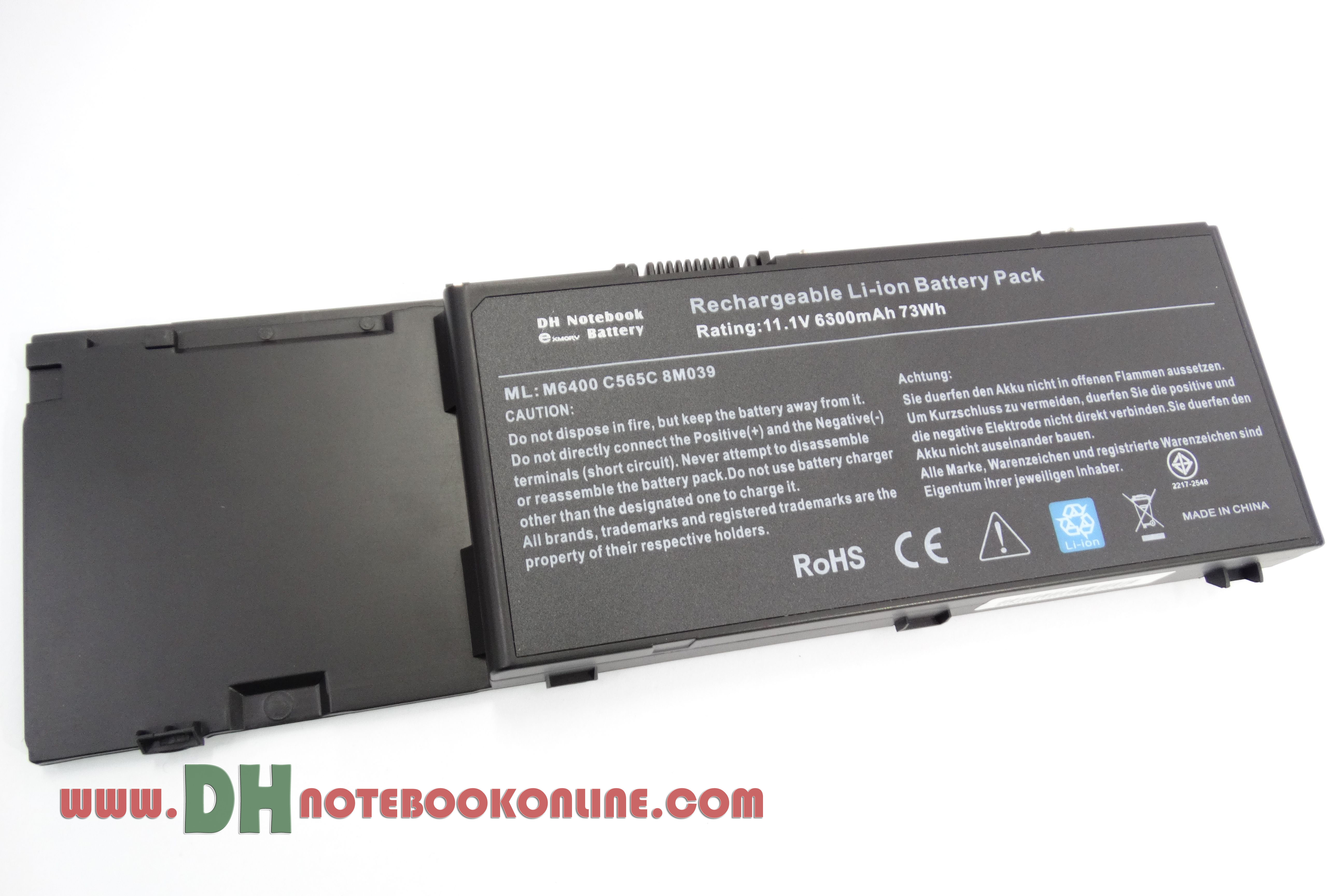 Battery Notebook Dell M6400