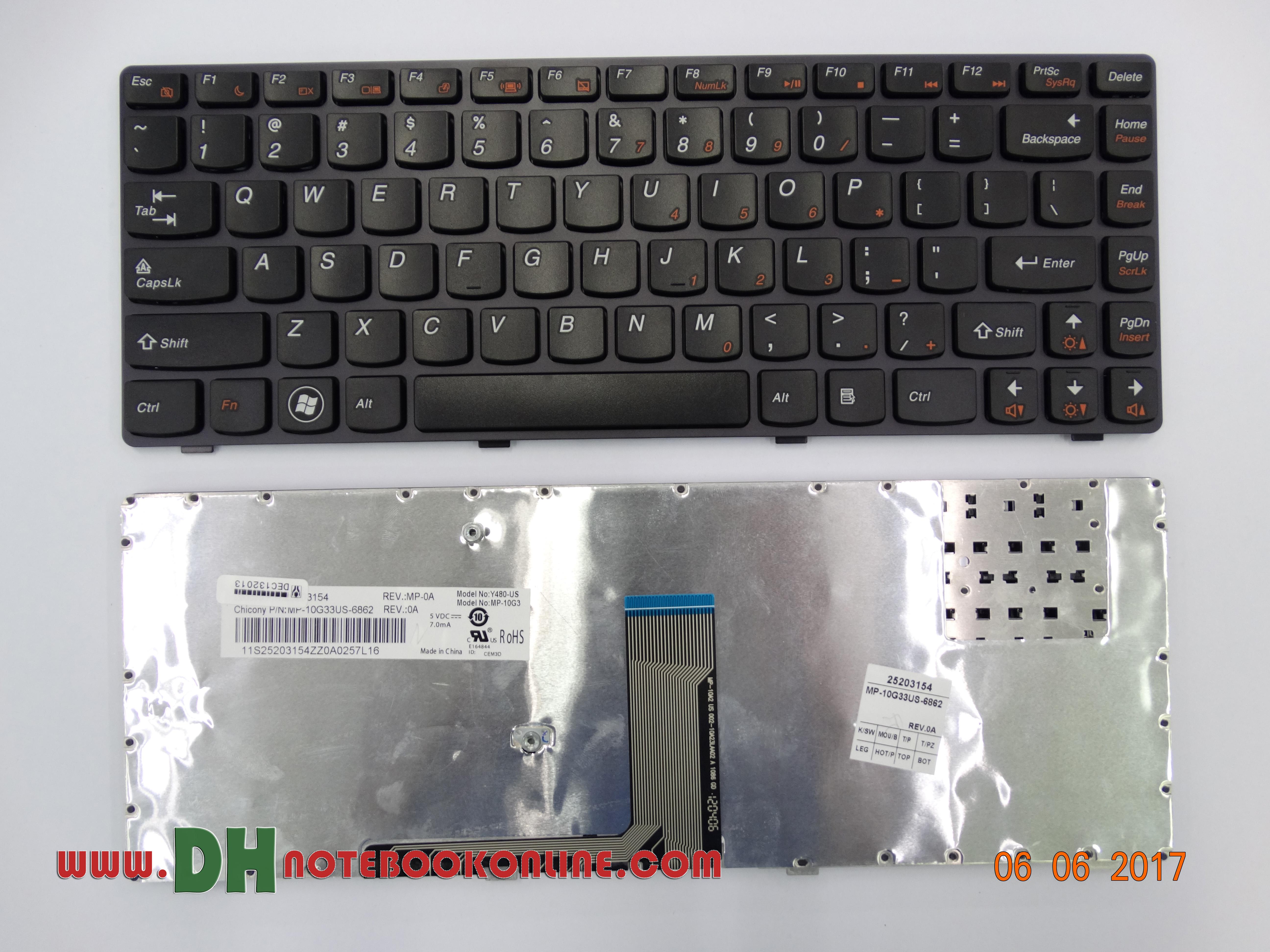 Lenovo Y480 Keyboard