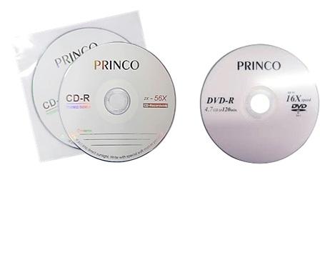 แผ่น CD-R (บรรจุ 3 แผ่น), แผ่น DVD-R (บรรจุ 2 แผ่น)