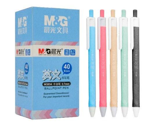 ปากกาลูกลื่นน้ำมันกด   0.7mm (บรรจุ40ด้าม) ABPW3034A