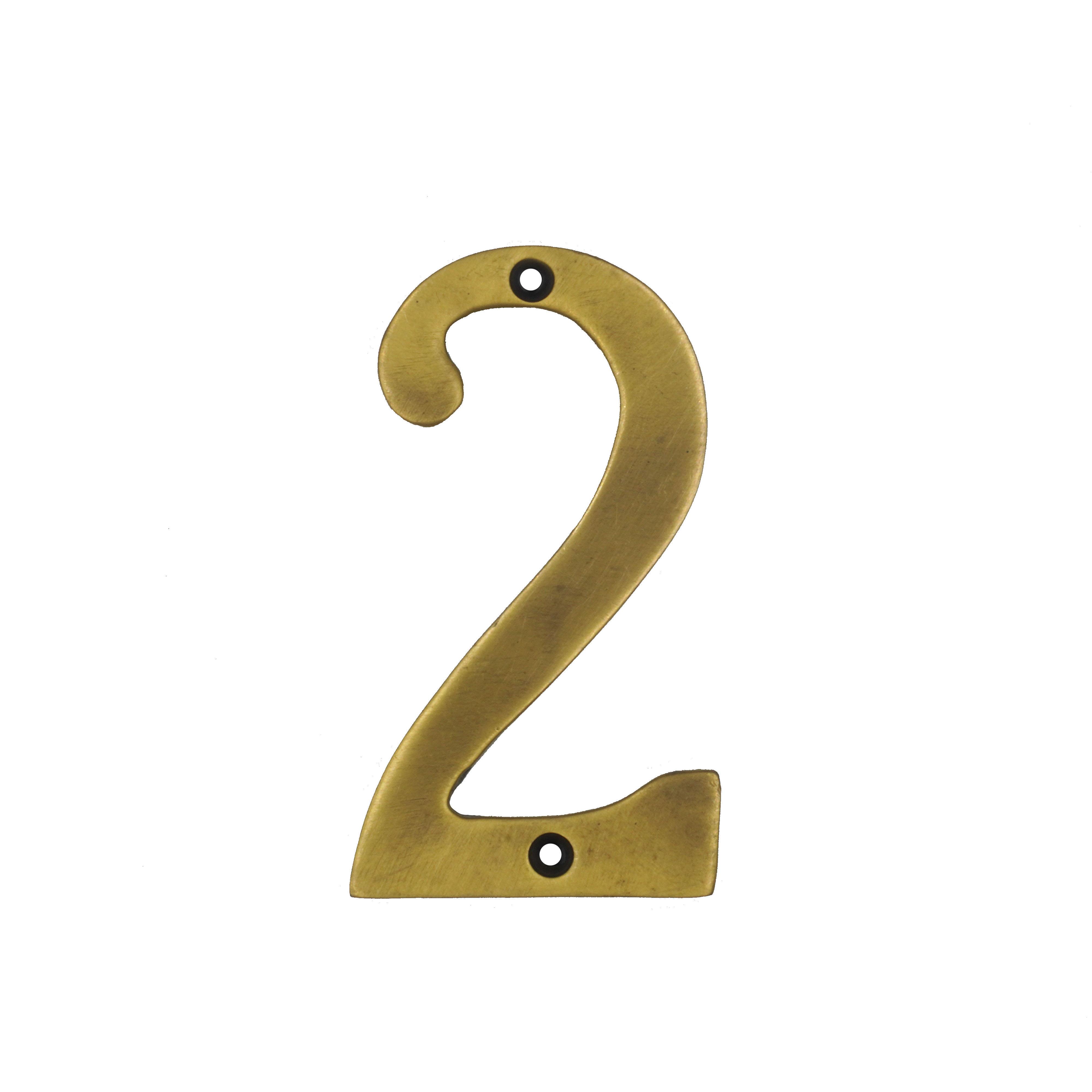 ตัวเลขหนา เรียบ - 2