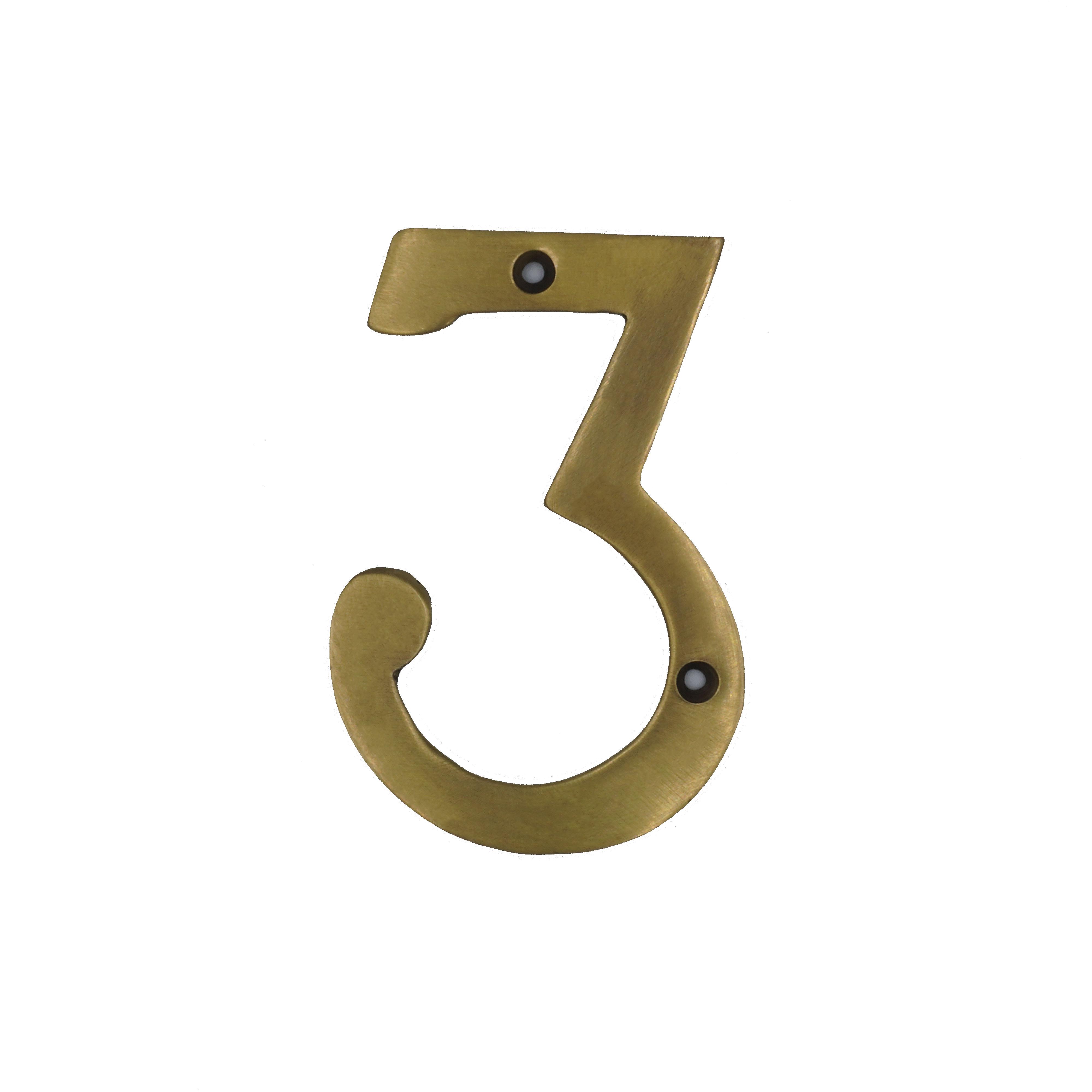 ตัวเลขบาง เรียบ - 3