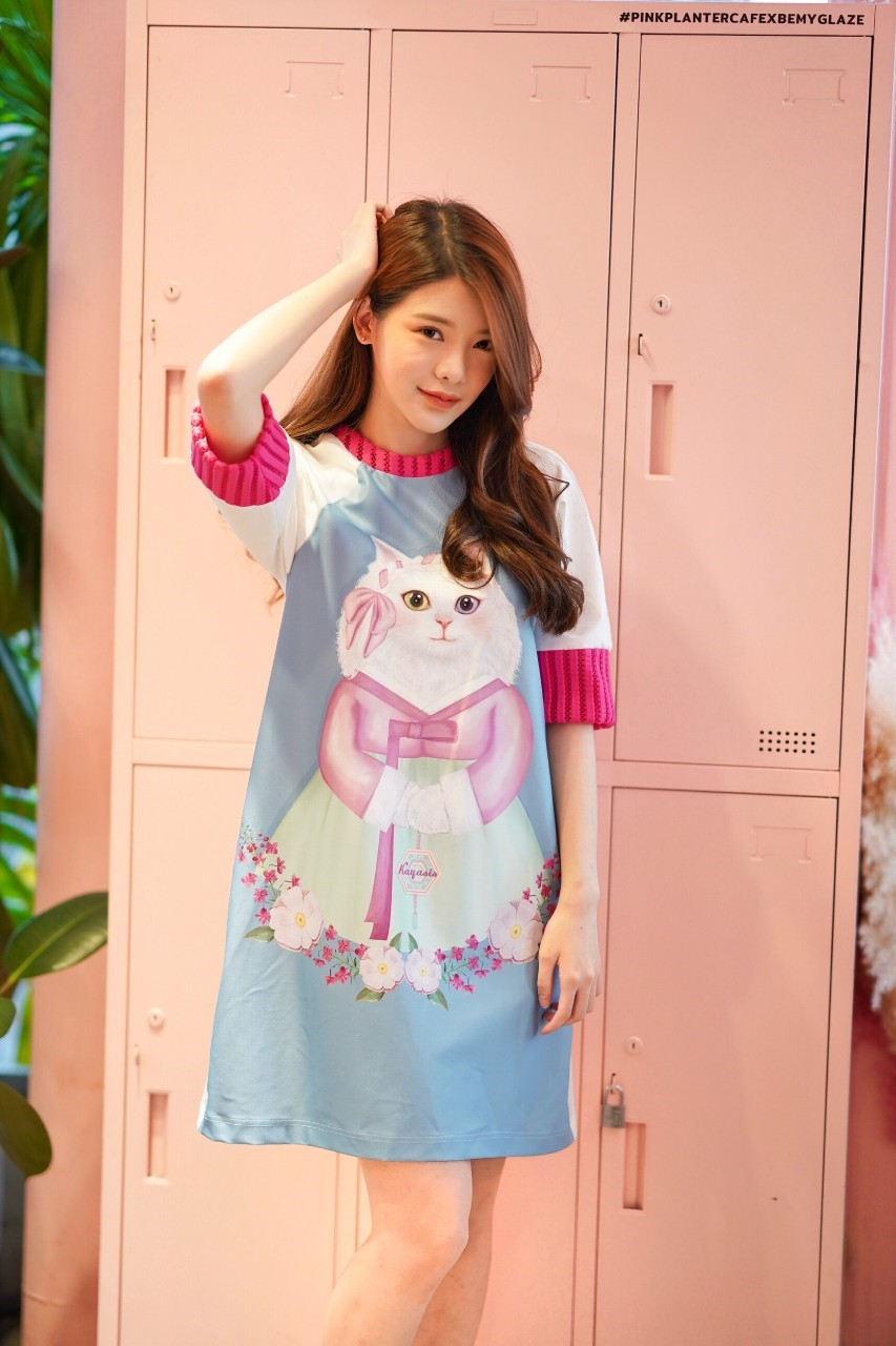 KYS007 Kitty in Hanbok Print Dress - In Stock พร้อมส่ง