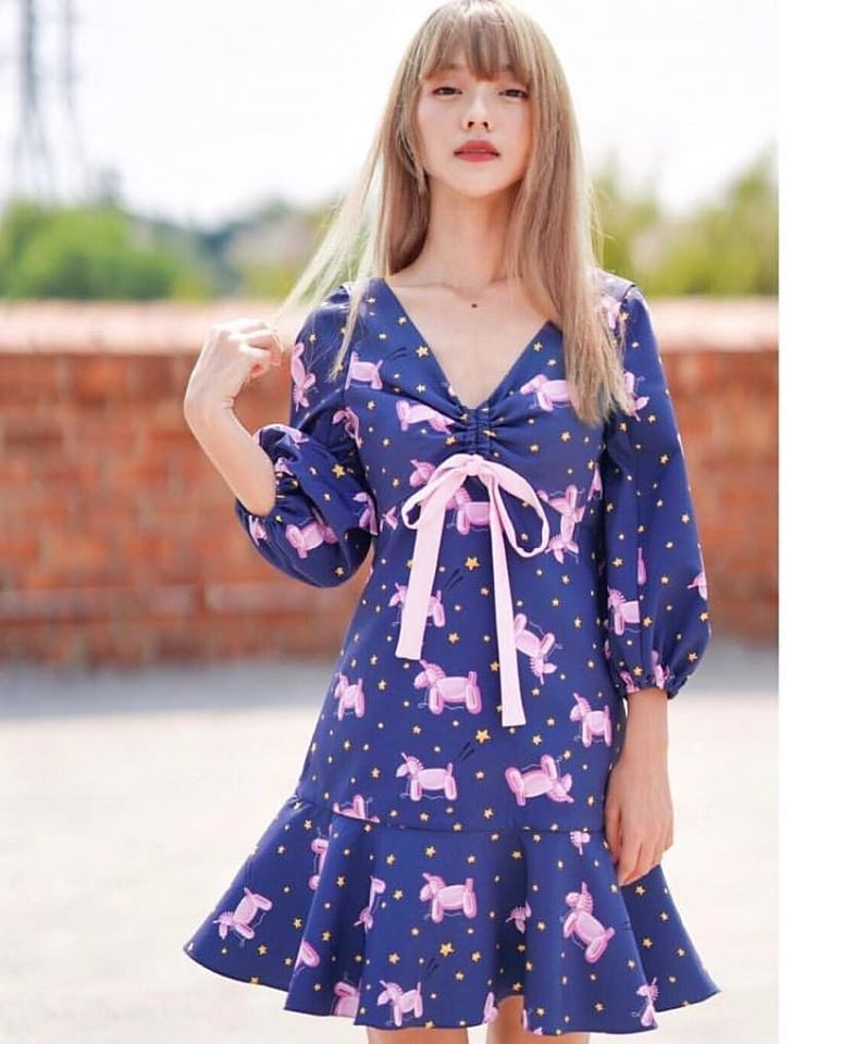 KYS024 - The Sparkling Memory Ruffle Dress - In Stock Now