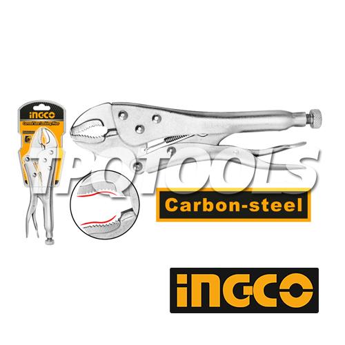 คีมล็อคปากโค้ง 10นิ้ว INGCO-HCJLW0210