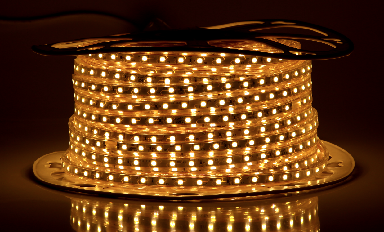 LED Strips SMD 5050 Tint 6W/M IP65 Yellow 220V 50M