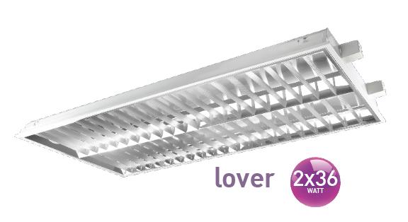 Recessed T/M louver 2x36