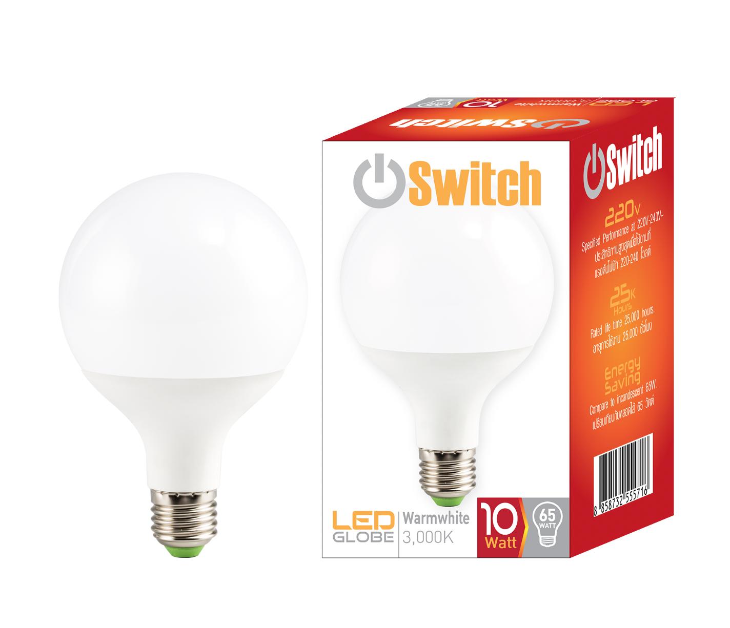 LED Globe 10w Warmwhite E27