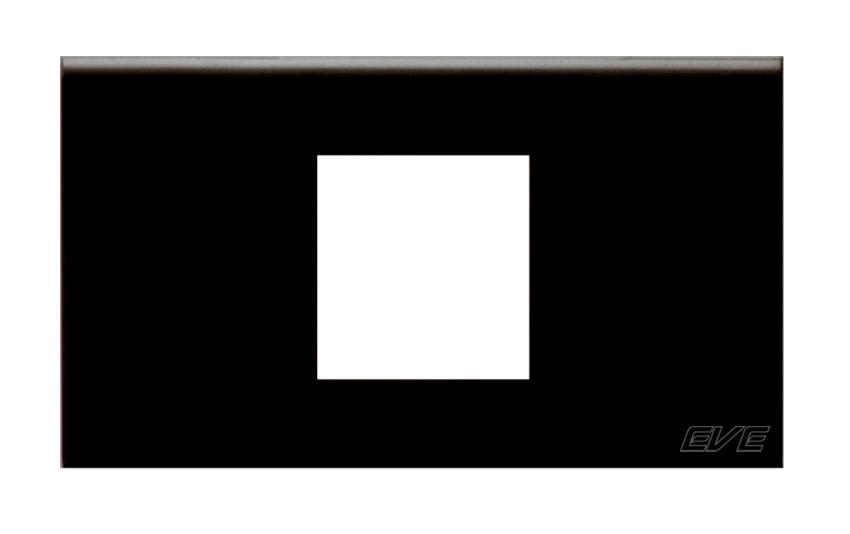 หน้ากาก ขนาด 1.5 ช่อง (PS) / ดำ