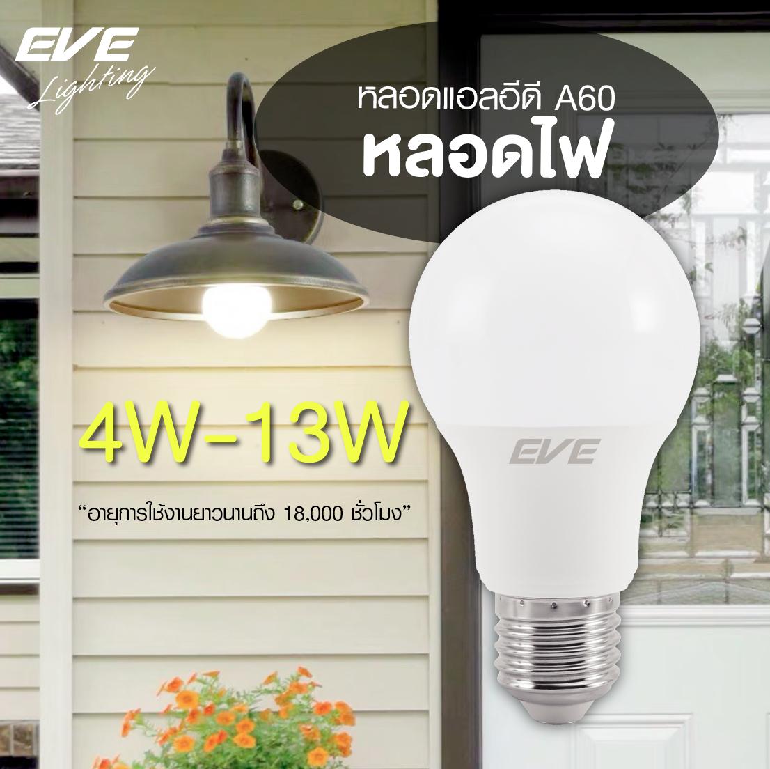 LED A60 TD หลอดแอลอีดี ขนาด 4-13 วัตต์ แสงขาว เดย์ไลท์ แสงเหลืองวอร์มไวท์