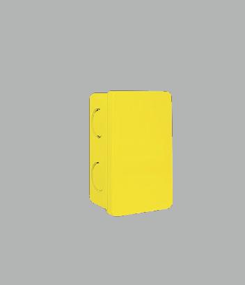 "Square Box  2x4"" inch Yellow"