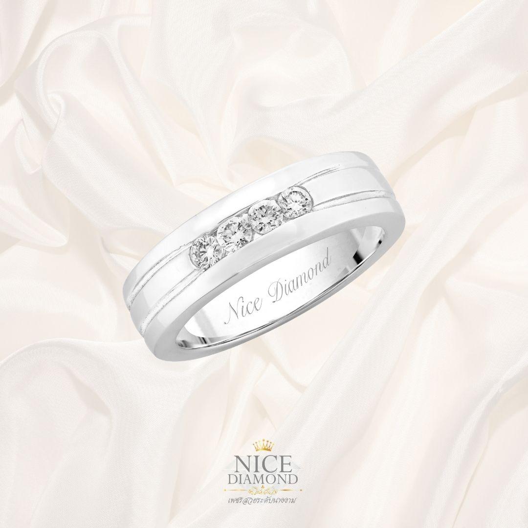 แหวนเพชรแถว แหวนผู้ชาย KD1637