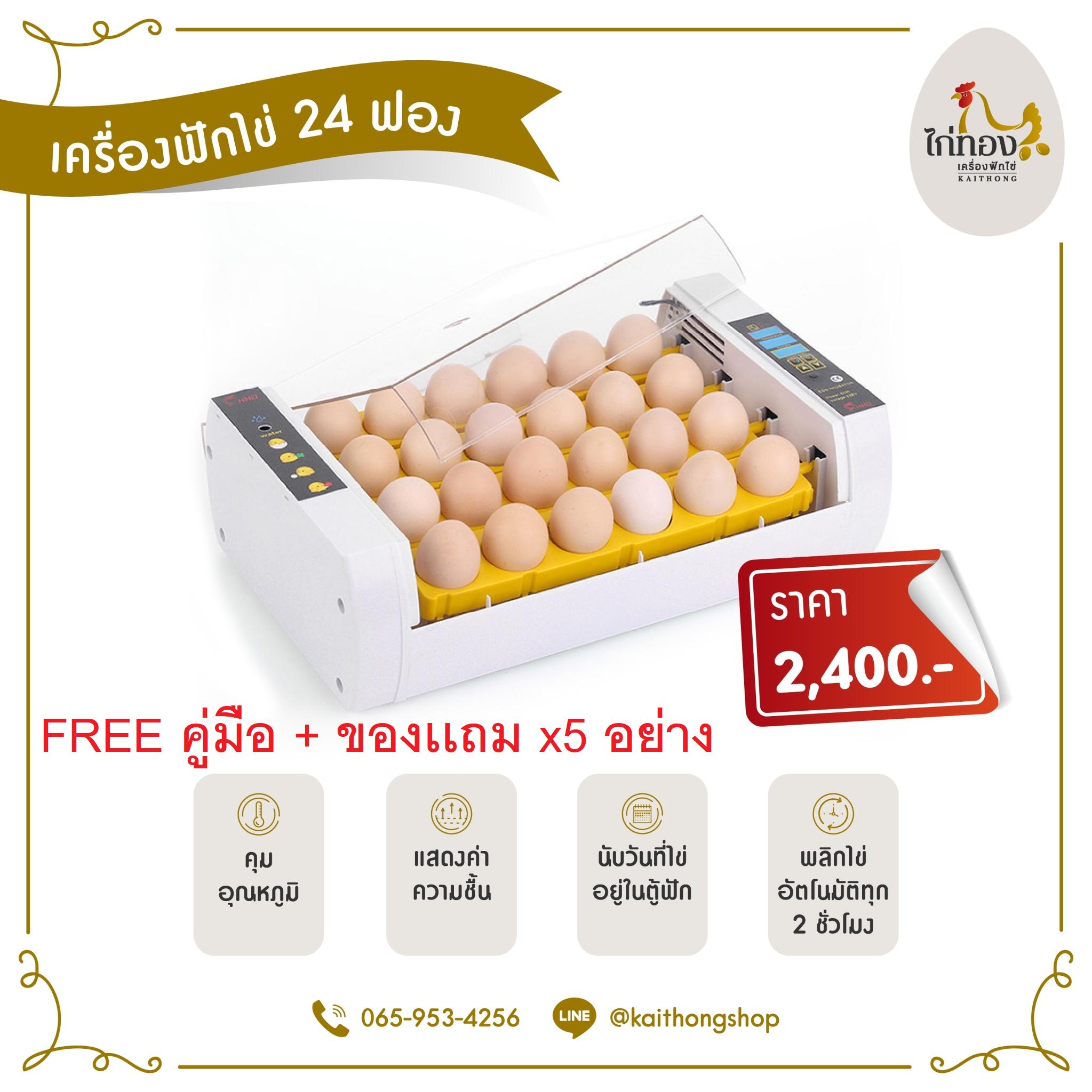 ตู้ฟักไข่ไก่ทอง 24 ฟอง