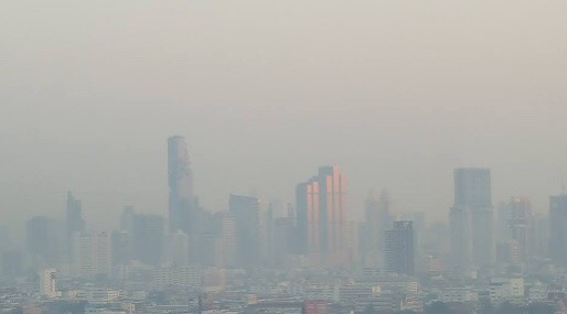 กรุงเทพฯ และปริมณฑล ลมอ่อนปกคลุม ฝุ่นพิษ PM 2.5 สะสมต่อไปอีก