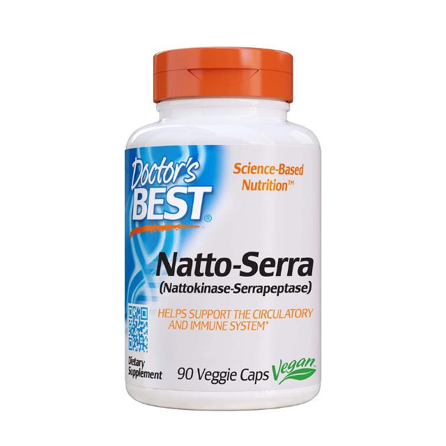 Natto - Serra ยี่ห้อ Doctor's Best บรรจุ 90 แคปซูลผัก