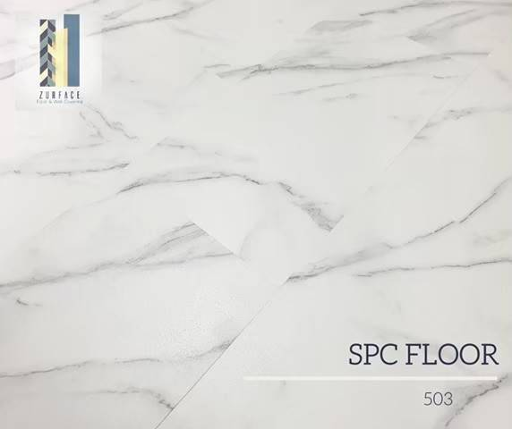 กระเบื้องยางลายหินอ่อนSPC4มิล(WHITE STONE) ราคา560รวมปู