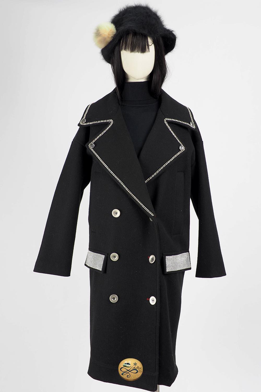 เช่าเสื้อโค้ทผู้หญิง  Limited Editon รุ่น  Obsidian Breasted Coat  0909GCL580FABK4XL1