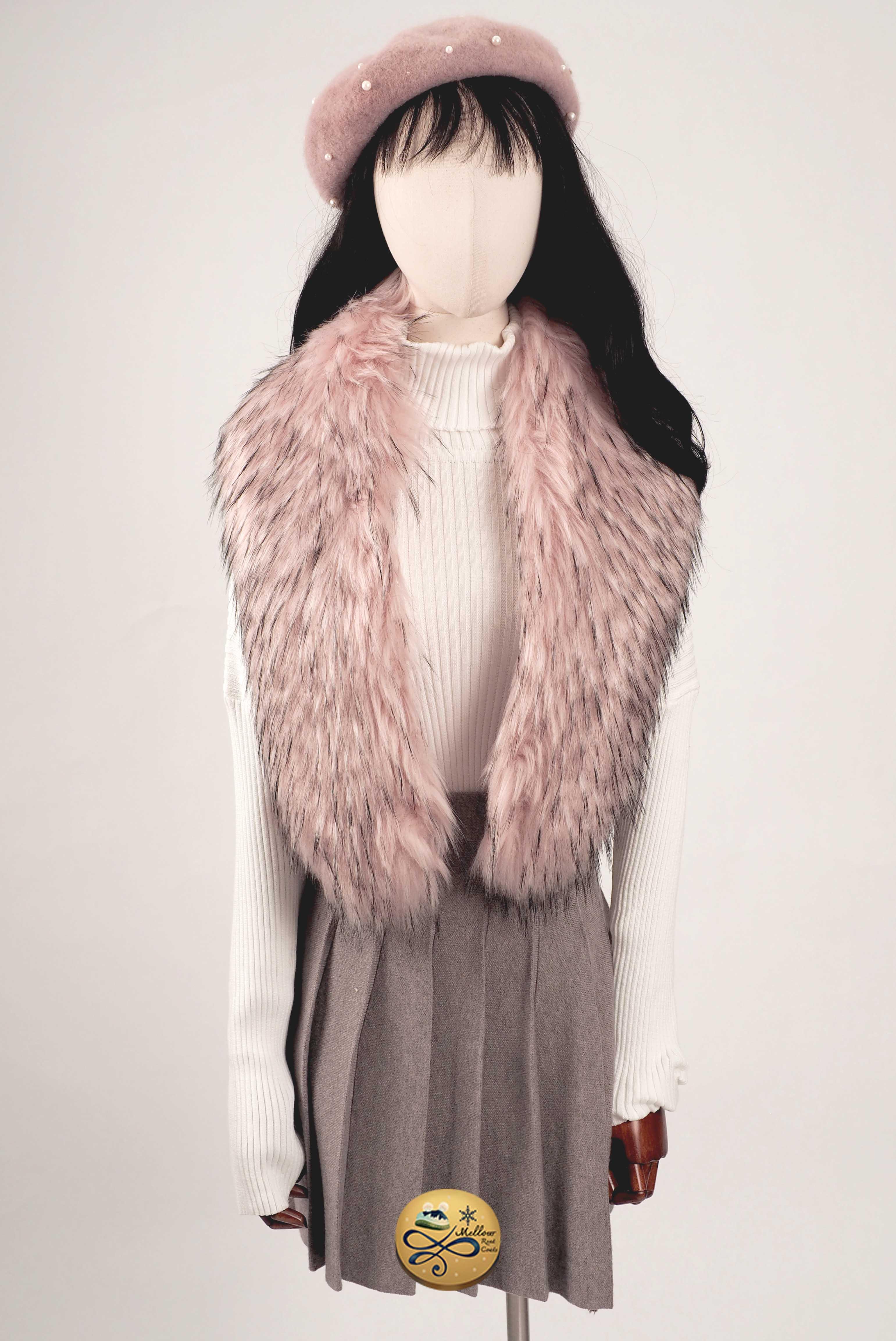 Faux Fur Scarf 904GFUR010PKF1