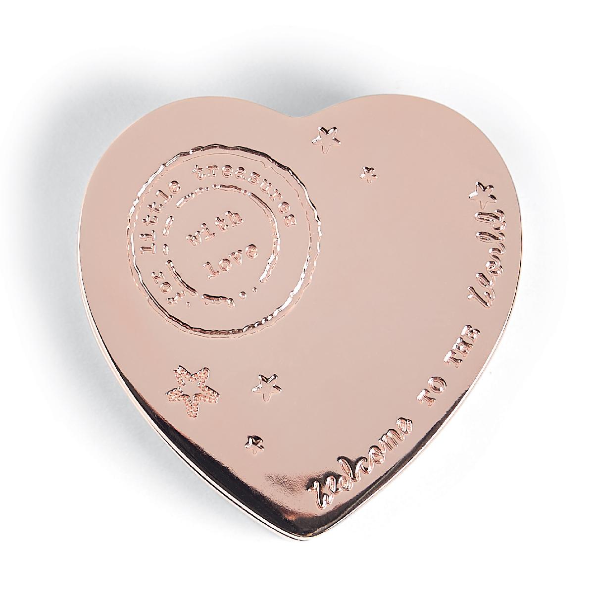 เครื่องเงิน กล่องรูปหัวใจ Rose Gold - Heart Trinket Box