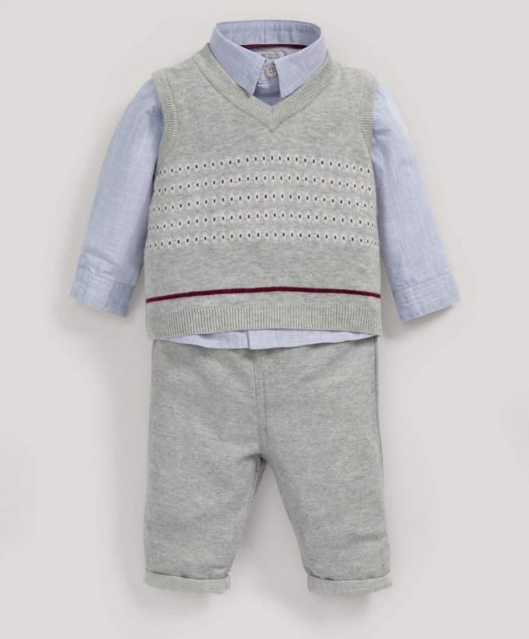 Knitted Tank, Shirt & Trouser Set