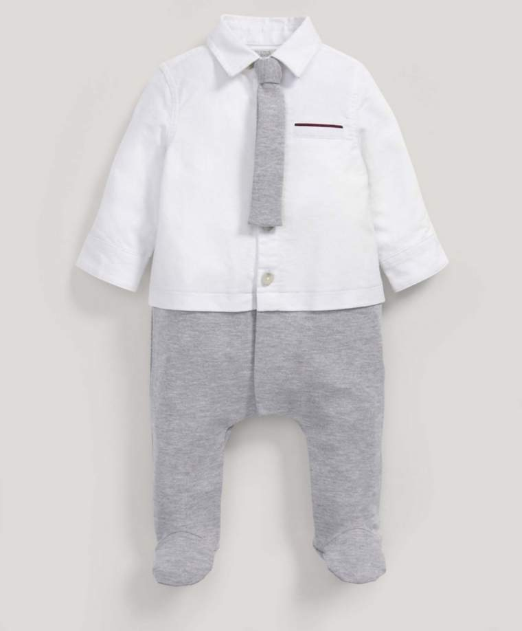 Mock Shirt With Tie All-in-One
