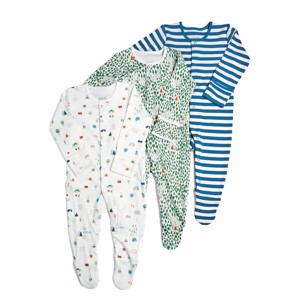 3 Pack Camping Sleepsuits