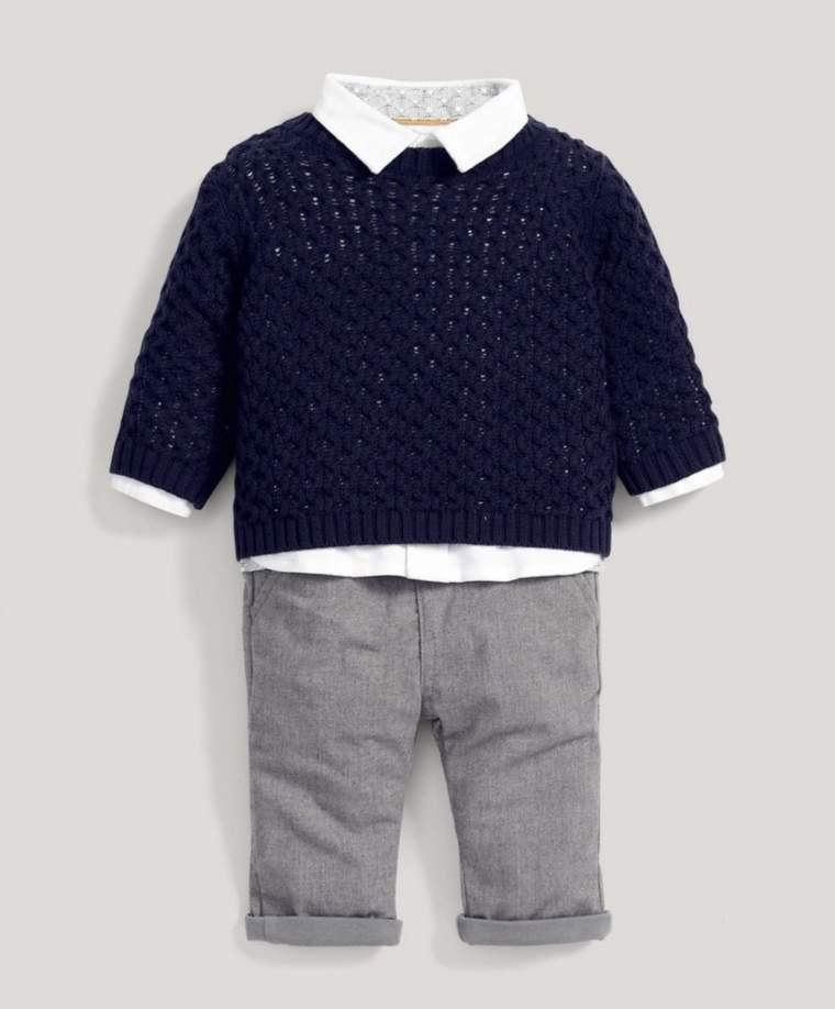Jumper, Shirt & Trousers Set