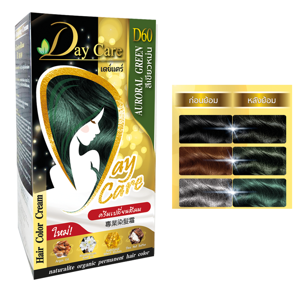 Day Care Hair Color Cream D60 AURORAL GREEN (สีเขียวหม่น)