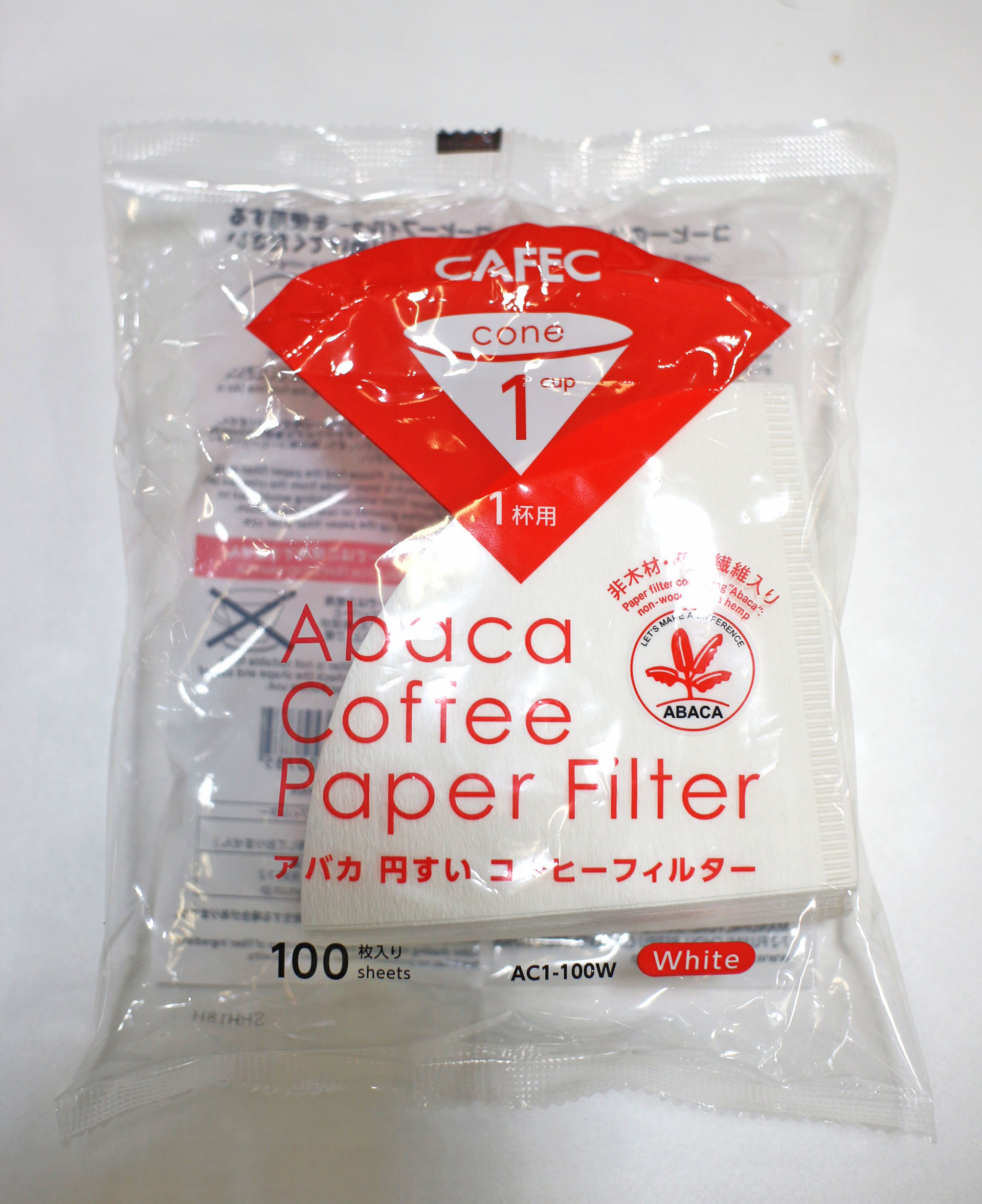 CAFEC Abaca paper Filter ;1 Cup