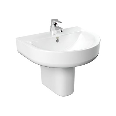 Concept D Shape Wash Basin with Semi Pedestal - TF-0553/0740