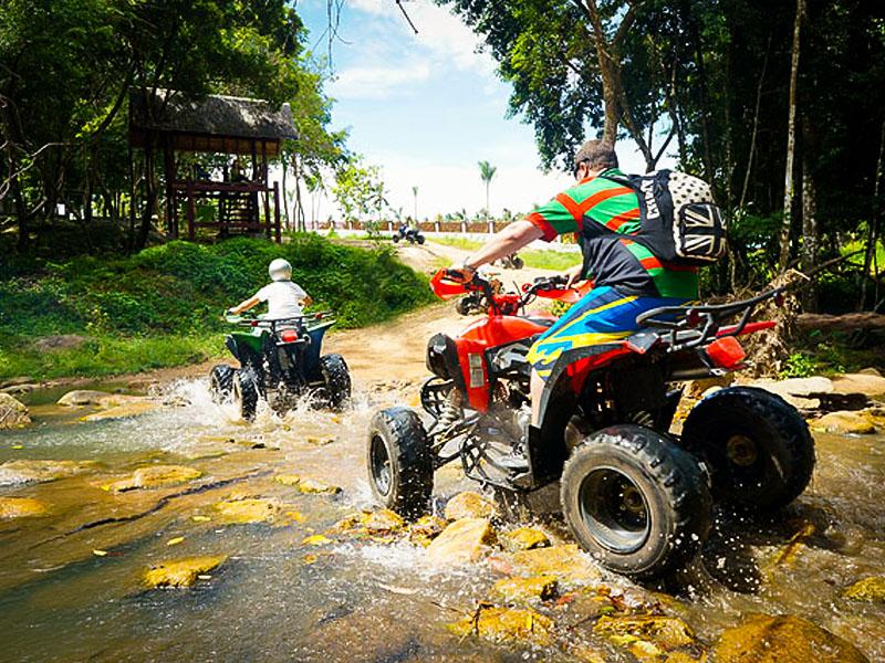 ATV Ride for 20 mins., Elephant Trekking 30 mins., Waterfall & Kayaking