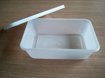 กล่องข้าวหลุมเดียว 650 กรัม PP ฝาขาวนม