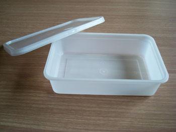 กล่องข้าวหลุมเดียว 500 (A) กรัม PP ฝาขาวใส