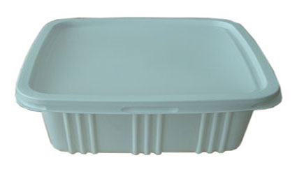 กล่องอาหาร PP ขาวขุ่นสีเหลี่ยมผืนผ้า