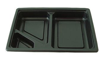 กล่องอาหารใหญ่ 3 หลุม PP/PET