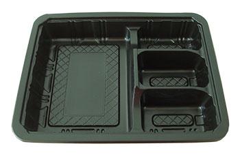 กล่องอาหารใหญ่ 4 หลุม PP/PET
