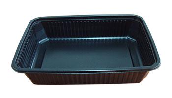 กล่องอาหาร 1 ช่อง PP 500 กรัม สีดำ