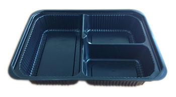 กล่องอาหารใหญ่ 3 หลุม PS/PET