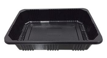กล่องอาหาร 1 ช่อง 500 กรัม PP สีดำ