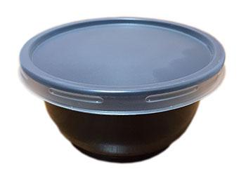 ชามบะหมี่ 600 กรัม PP สีดำ