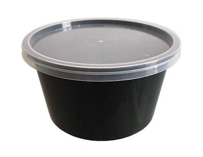 ถ้วยน้ำซุป 475 ml. PP สีดำ