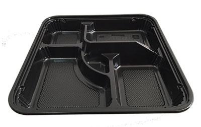 กล่องอาหารใหญ่ 5 หลุม PS/PS