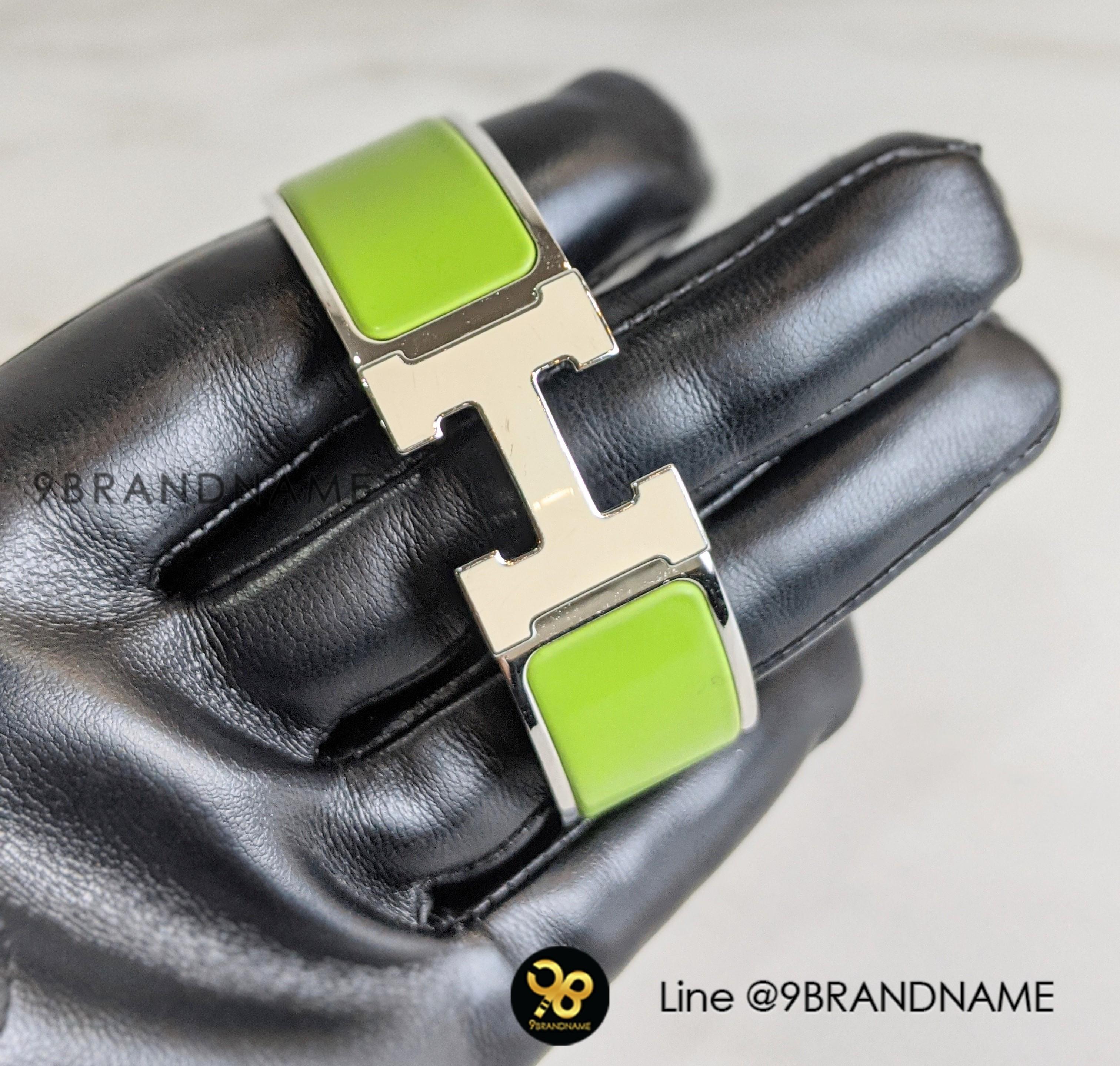 Hermes Bracelet Clic Clac Green SHW