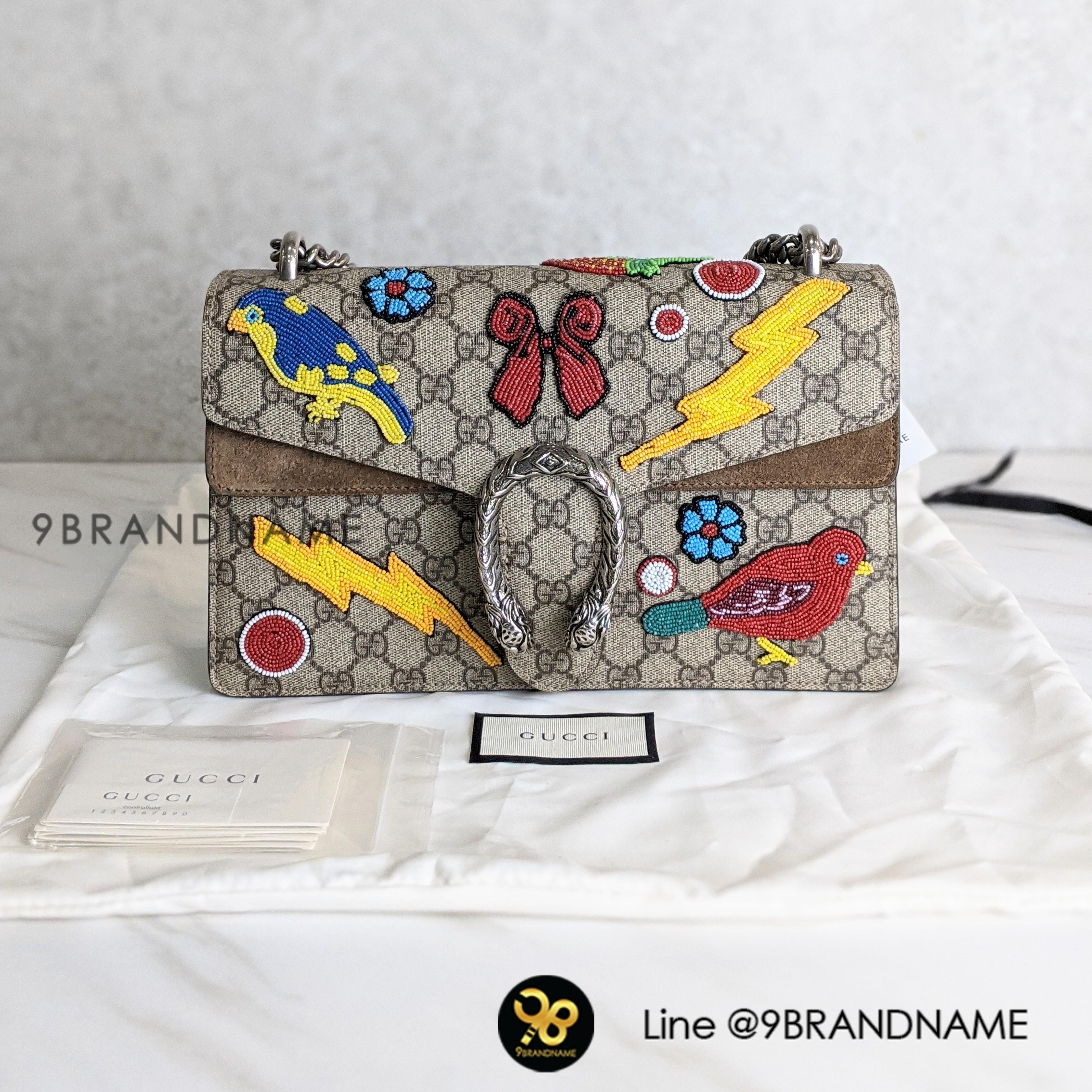 Used - Gucci Dionysus GG Supreme Coated Size : Small อุปกรณ์ : ถุงผ้า, คู่มือ,การ์ด Price : 49,900THB Shop Code : GC00448  เบอร์ร้าน : (+66) 0991564992 ผึ้ง : (+66) 0632491456 Line : @9brandname Location : Paradise Park ชั้น1 โซน O2 Webs