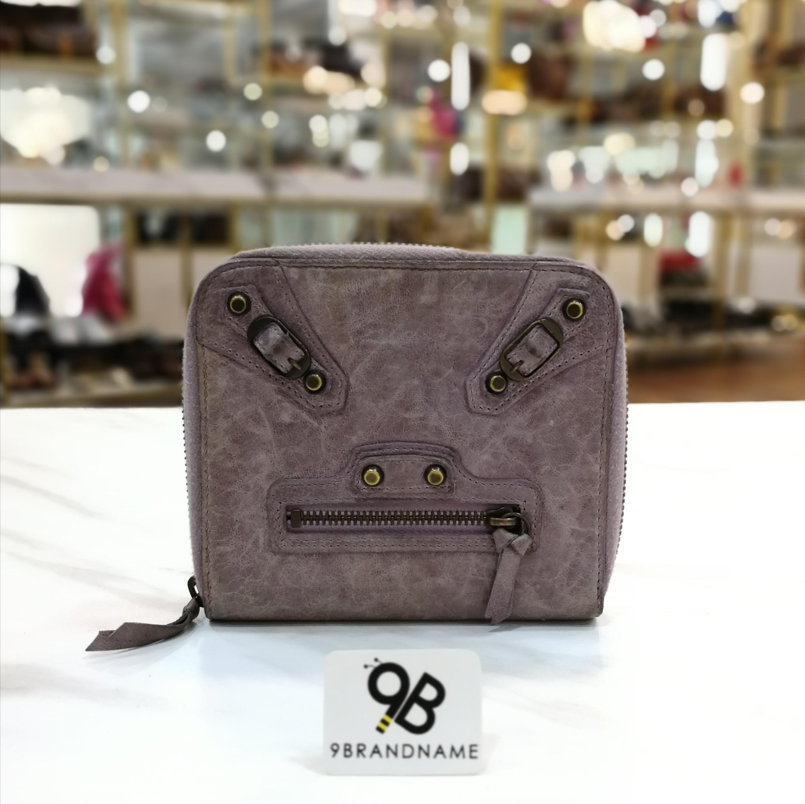 Balenciaga Short wallet Classic Stud Zippy purple Color