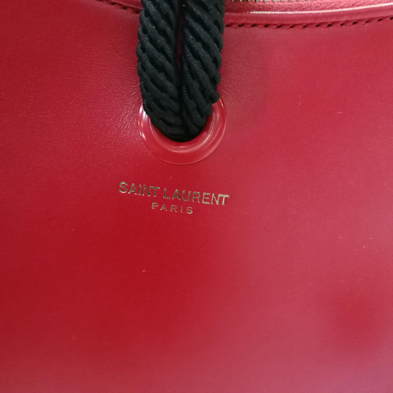 Saint Laurent Heart Shaped Tassel Clutch Red 9brandname