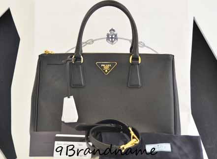 PRE-ORDER- Prada saffiano Lux Tote size 33 2ซิปสีดำ Nero ของใหม่ค่า สั่งได้ทุกสีนะคะ