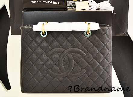 Chanel Grand Shoping Tote (GST) Black Carviar! GHW รุ่นยอดนิยมใช้ง่าย ของใหม่จ้า