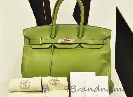 Hermes Birkin สีีเขียว PHW size 30อะไหล่สีเงิน หนังเรียบ สภาพดีมากค่ะ กระเป๋าสุดหรู ในราคาสุดคุ้มค่ะ