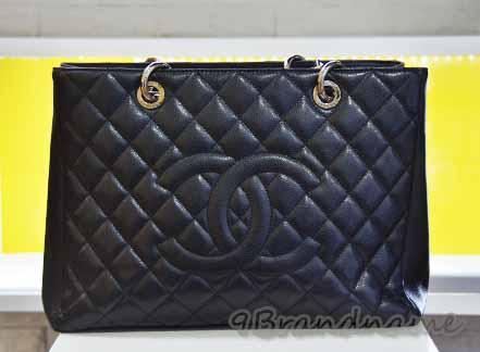 Chanel Grand Shoping Tote (GST) Black Carviar SHW กระเป๋าทรงช็อปปิ้ง สีดำ อไหล่เงิน ไซส์ใหญ่จุใจค่า